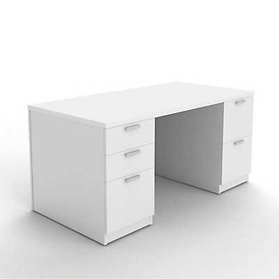 Picture of Currency Pedestal Desk with Drawers