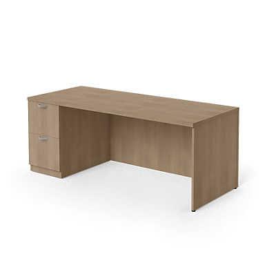 "Picture of Currency 72"" Single Pedestal Desk, Left Hand"