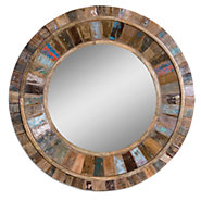 Picture of Jeremiah Round Wood Mirror