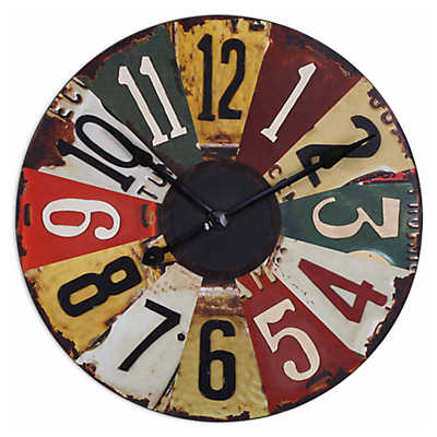 "Picture of Vintage License Plates 29"" Wall Clock"