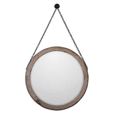 Picture of Loughlin Round Wood Mirror