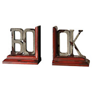 Picture of Book Distressed Bookends, Set of 2
