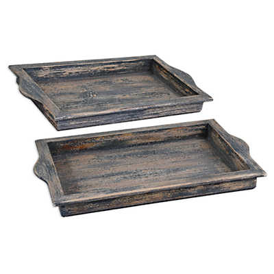 Picture of Bleu Trays, Set of 2