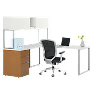Picture of Voi L-Shaped Desk with Upper Storage