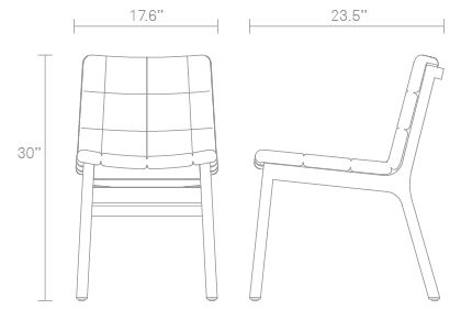 Wicket Side Chair Dimensions
