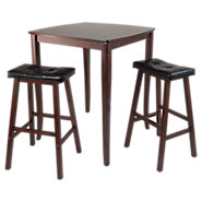 Picture of Hendricks 3-Piece High Table Set with Cushioned Saddle Stools