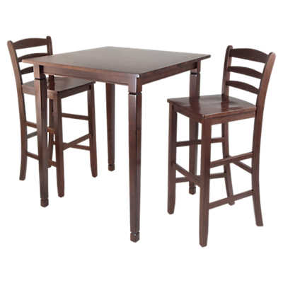 Picture of Stockton 3-Piece High Table Set with Ladder Back Stools