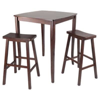 Picture of Hendricks 3-Piece High Table Set with Saddle Stools