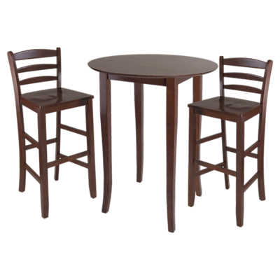 Picture of Dominique 3-Piece High Table Set with Ladder Back Stools