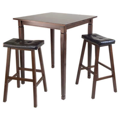 Picture of Stockton 3-Piece High Table Set with Cushioned Saddle Stools