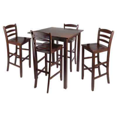 Picture of Daniels 5-Piece Square Pub Table Set with Ladder Back Stools