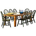 Laramie 9 Piece Expandable Dining Table Set