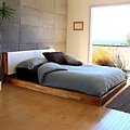 LAX Series King Platform Bed with Headboard