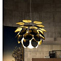Discoco Suspended Lamp, Black Gold