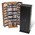 Large Locking Media Storage Cabinet