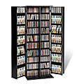 Large Locking Media Storage Cabinet with Shaker Doors