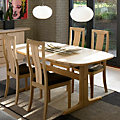 Skovby Ellipse Extending Dining Table SM 74