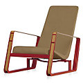 Cite Chair, Red Frame
