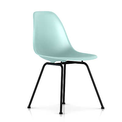 Picture of Eames Molded Plastic Side Chair with 4 Leg Base