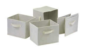 Fabric Storage Bins, Set of 4