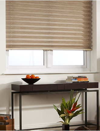 "2"" Pleated Shade - Strata Parchment"