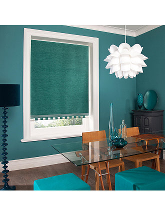 Roller Shades - Chenille Teal