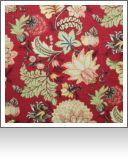 "DF00819|Southern Comfort Garnet--54"" wide|55% Linen, 45% Viscose|Floral|Medium"
