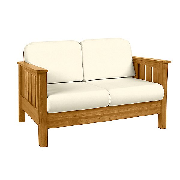 The Official This End Up Artisan Loveseat With Overstuffed Backs
