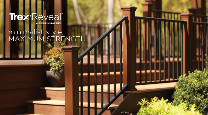 Trex Reveal Aluminum Railing. Minimalist style; maximum strength.