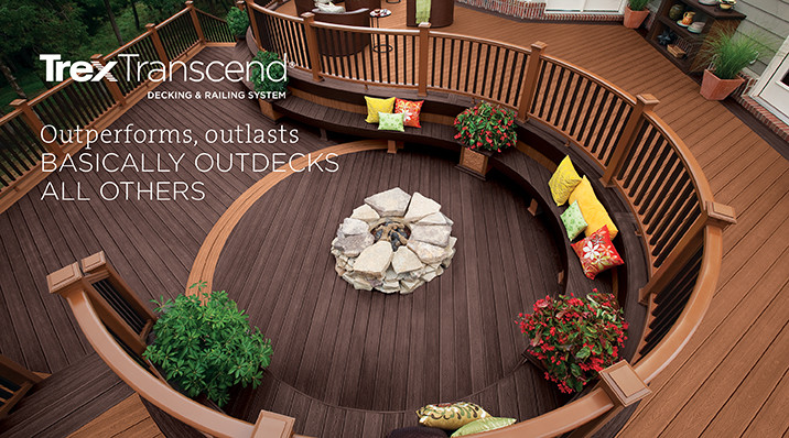 Trex Transcend Decking and Railing. Outperforms, outlasts, basically outdecks all others.