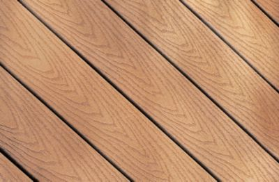 Wood Grain Pattern Of Trex Accents Composite Decking In Saddle