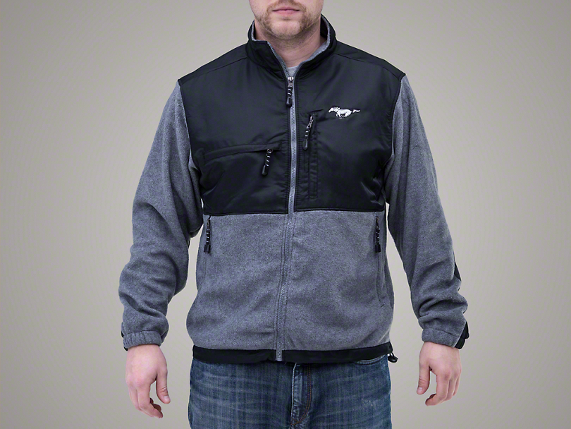Ford Mustang Microfleece Jacket - Gray