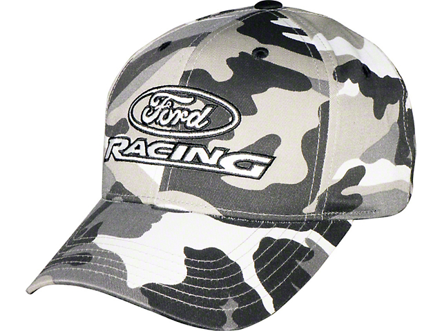 Ford Racing Logo Hat - Black and White Camo