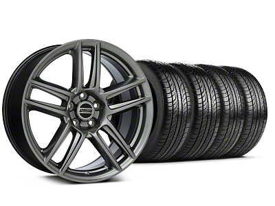 Laguna Seca Style Hyper Black Wheel & Pirelli Tire Kit - 19x9 (05-14 All)