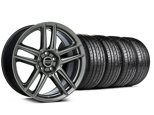 Laguna Seca Style Hyper Black Wheel & Sumitomo Tire Kit - 19x9 (05-14 All)