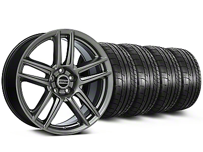 Laguna Seca Style Hyper Black Wheel & Mickey Thompson Tire Kit - 19x9 (05-14 All)