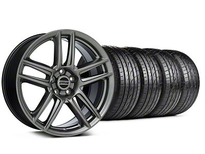 Staggered Laguna Seca Style Hyper Black Wheel & Sumitomo Tire Kit - 19x9/10 (05-14 All)