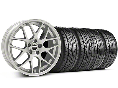 AMR Silver Wheel & NITTO Tire Kit - 18x8 (05-14 All, Excludes 13-14 GT500)