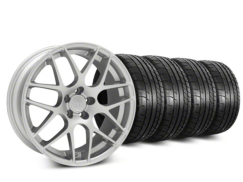 AMR Silver Wheel & Mickey Thompson Tire Kit - 18x8 (94-98)