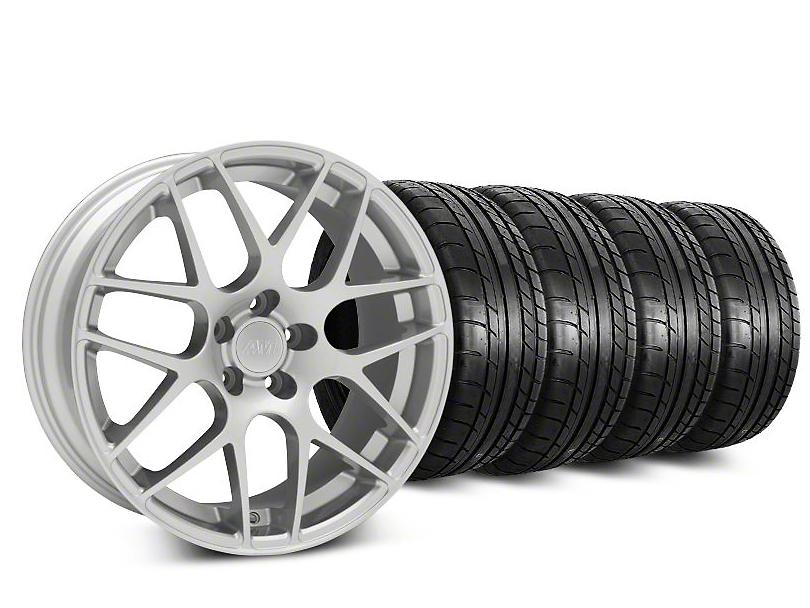 AMR Silver Wheel & Mickey Thompson Tire Kit - 18x8 (94-98)