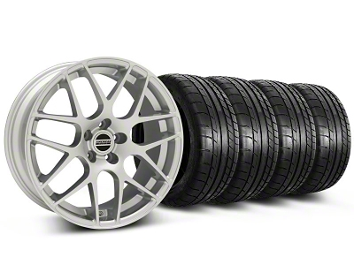 AMR Silver Wheel & Mickey Thompson Tire Kit - 18x8 (05-14 All, Excludes 13-14 GT500)