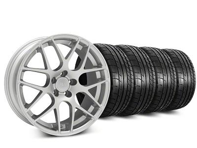 AMR Silver Wheel & Mickey Thompson Tire Kit - 20x8.5 (05-14 All)