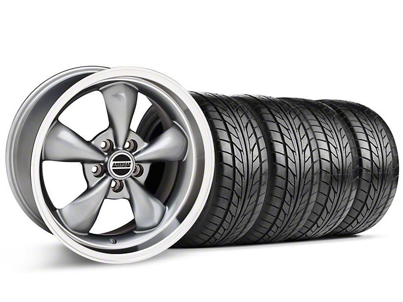 Bullitt Anthracite Wheel & NITTO Tire Kit - 17x9 (87-93 5 Lug Conversion)
