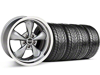 Bullitt Anthracite Wheel & NITTO Tire Kit - 17x9 (87-93 5 Lug Conversion)