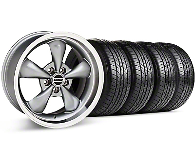 Bullitt Anthracite Wheel & Sumitomo All Season Tire Kit - 17x9 (87-93 5 Lug Conversion)