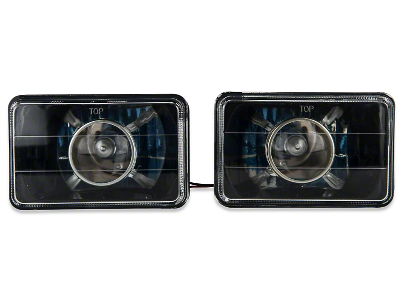 Axial Black Projector Headlight - Pair (79-86)