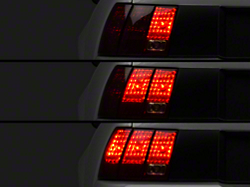 Raxiom Smoked Dual Led Halo Projector Mustang Headlights