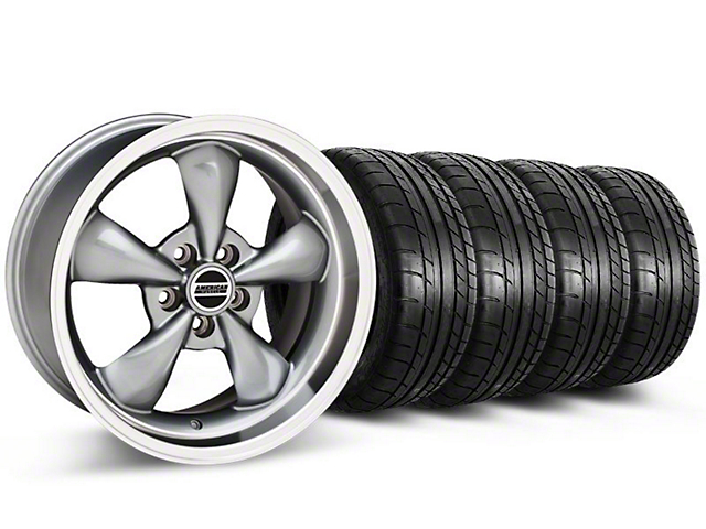 Bullitt Anthracite Wheel & Mickey Thompson Tire Kit - 17x9 (87-93 5 Lug Conversion)