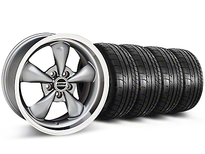 American Muscle Wheels Bullitt Anthracite Wheel & Mickey Thompson Tire Kit - 17x9 (87-93 5 Lug Conversion)