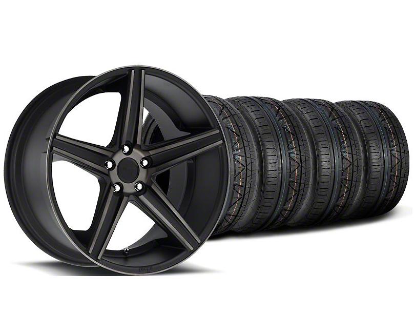 Niche Apex Matte Black Wheel & NITTO INVO Tire Kit - 20x8.5 (05-14 All)